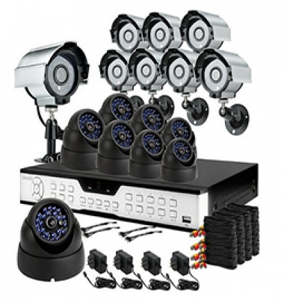 16 channel dvr nvr security system installation los angeles
