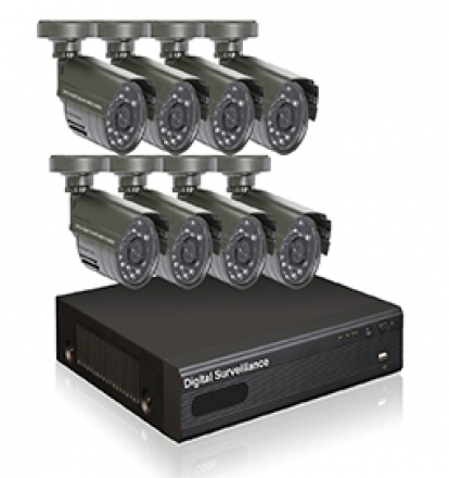 8 channel dvr security system la